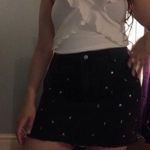 Adam Levine black jean skirt
